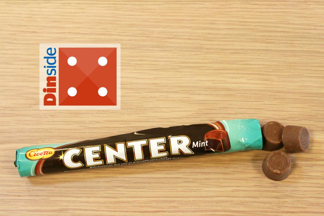 <strong><b>CLOETTA:</strong> CENTER MINT:</b> Det dekadente fyllet slo ihjel melkesjokoladetrekket, men det kan vi tilgi.  Foto: MERETHE HOMMELSGÅRD