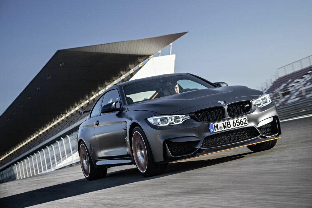 <strong><b>DENS RETTE ELEMENT:</strong></b> M4 GTS er optimalisert for bane, men vil nok tilfredsstille den sportslige bilføreren på vei også. Foto: BMW