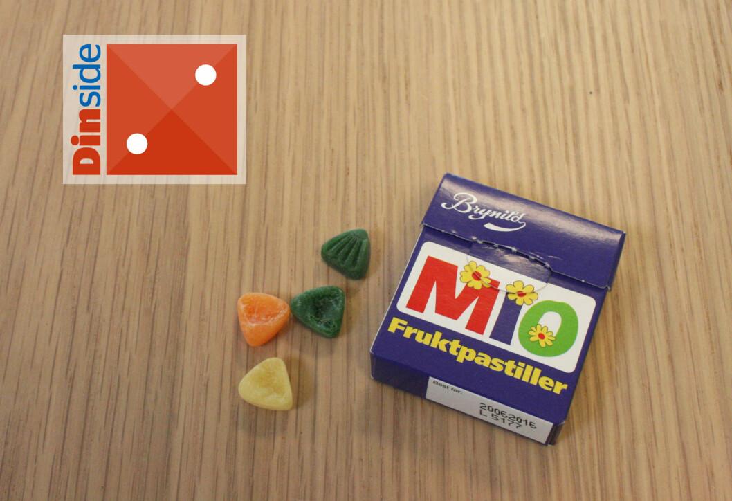<strong><b>MIO:</strong></b> Det smaker barndom, men det smaker dessverre ikke spesielt godt. Foto: MERETHE HOMMELSGÅRD