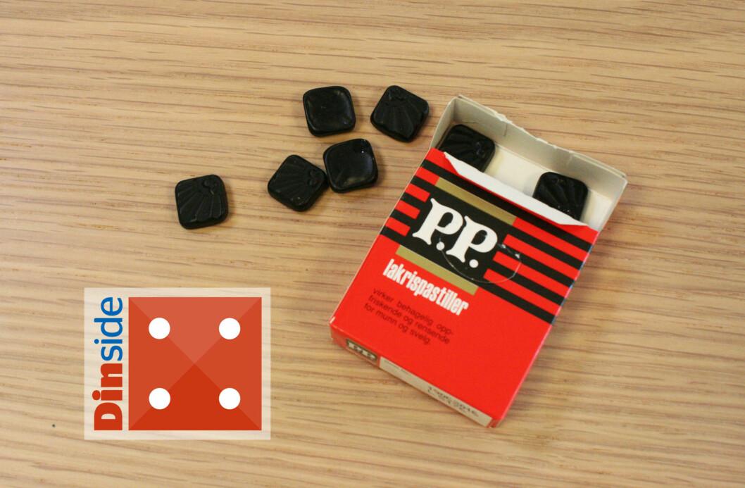 <strong><b>PP:</strong></b> Det er friskt med mentol i lakrisen, men det kunne kanskje stått litt tydeligere. Foto: MERETHE HOMMELSGÅRD