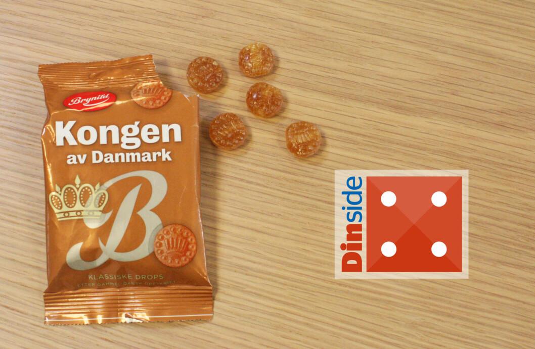 <strong><b>KONGEN AV DANMARK:</strong></b> Søte og enda bedre bestemordrops. Foto: MERETHE HOMMELSGÅRD