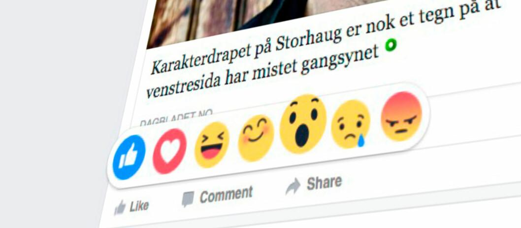 <strong><strong>IKKE BARE LIKER:</strong></strong> Du kan få den nye Facebook-funksjonen ved å gjøre et lite triks. Foto: PÅL JOAKIM OLSEN
