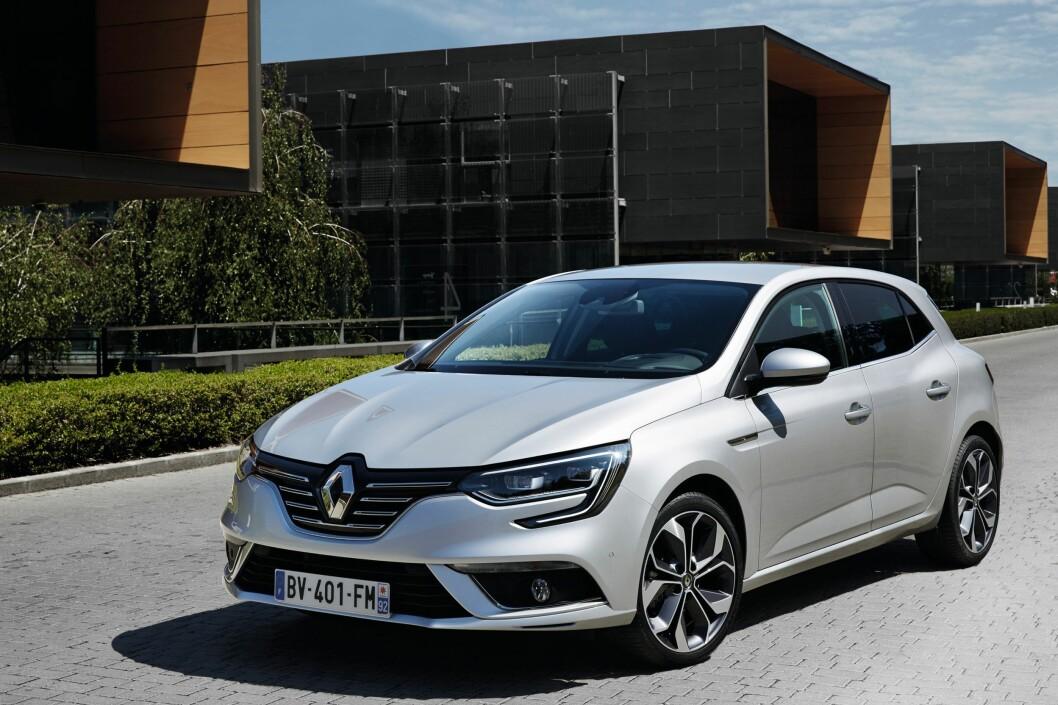 <strong><b>KOMPAKT NYKOMMER:</strong></b> Helt ny Renault Mégane - det betyr nok en nyhet i Golf-klassen og vil konkurrere med Opel Astra, som også ble lansert på bilmessen i Frankfurt. Foto: RENAULT