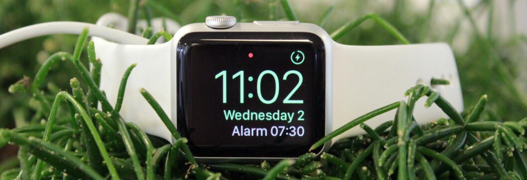 <b>NYTTIG OM NATTA:</b> Siden Apple Watch likevel må lades hver natt, hvorfor ikke bruke den til noe samtidig? Foto: KIRSTI ØSTVANG
