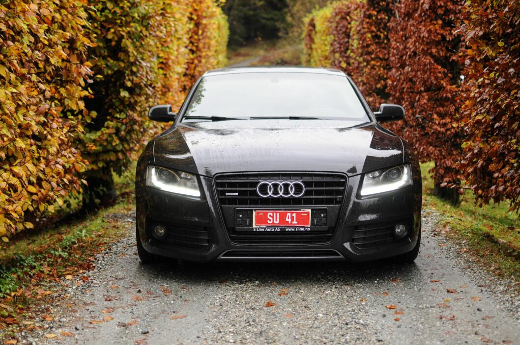 <strong><b>SIGNATUR:</strong></b> Lyktdesign har vært Audi sitt sterkeste kort i nyere tid, men det er heller ikke noe å si på resten av snuten.  Foto: Kaj Alver
