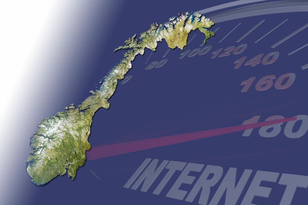 <b>DÅRLIG DEKNING? </b> Flere steder i Norge har ikke engang bredbåndsdekning.  Foto: DINSIDE