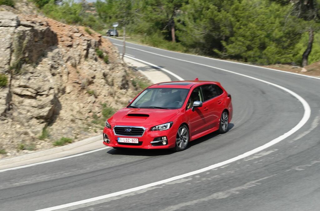 <b>RART NAVN:</b> Levorg er nytt modellnavn hos Subaru og står for en kreativ forkortelse av LEgacy-reVOlution-touRinG. Ikke helt innlysende ... Foto: KNUT ARNE MARCUSSEN