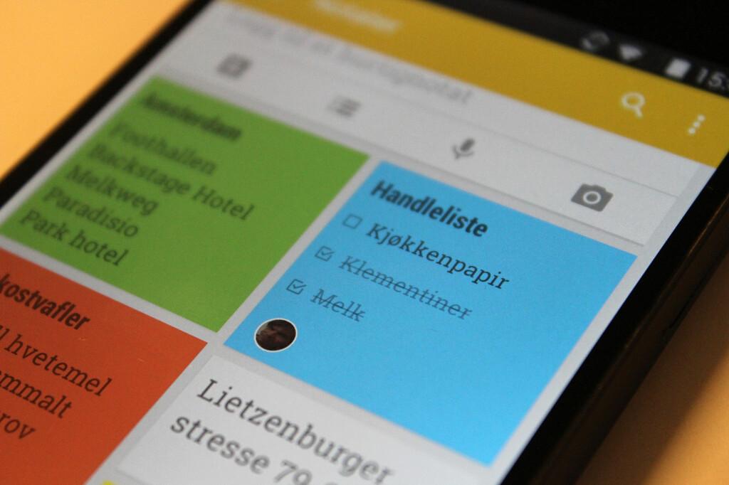 <strong>KJEKK APP:</strong> Google Keep er en enkel og smart app for å samle små notater og huskelapper på ett sted. Foto: KIRSTI ØSTVANG
