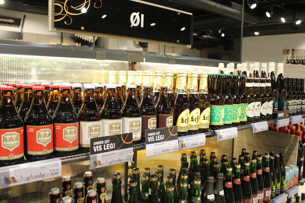 <strong><b>PÅ POLET:</strong></b> Øl som er sterkere enn 4,7 prosent må selges på Vinmonopolet. Foto: HANNA SIKKELAND