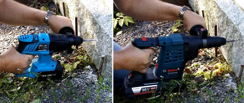TUNG JOBB: Skal du bore i granitt trengs det både kraft og utholdenhet. Foto: BRYNJULF BLIX