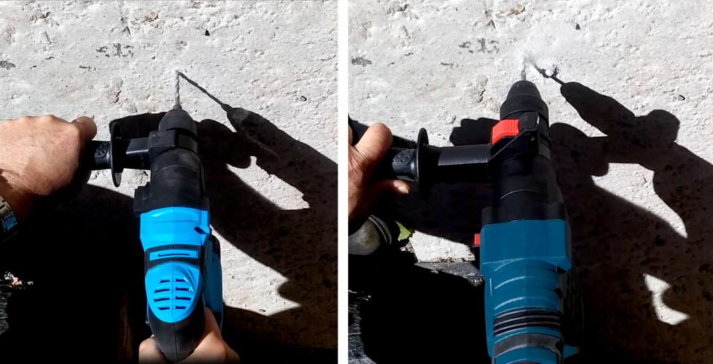 I BETONG: Betong er ikke noe problem, selv for en liten borhammer. Foto: BRYNJULF BLIX