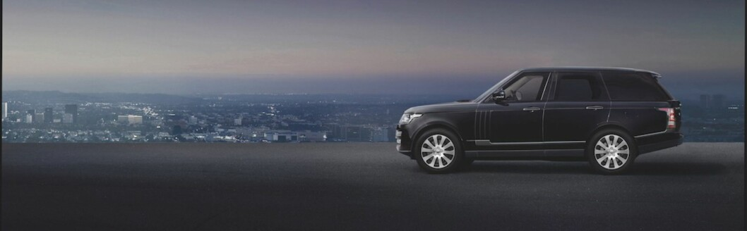 <strong><b>SKINNET BEDRAR:</strong></b> SVO, Jaguar Land Rovers Special Vehicle Operations ønket at bilen skulle se ut som en vanlig Range Rover Autobiography, men presetere som en tanks. Foto: JAGUAR LAND ROVER
