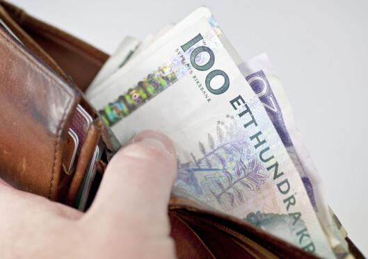 <strong><b>DYRT:</strong></b> Nå koster svenske kroner flesk for oss nordmenn. Foto: COLOURBOX.COM