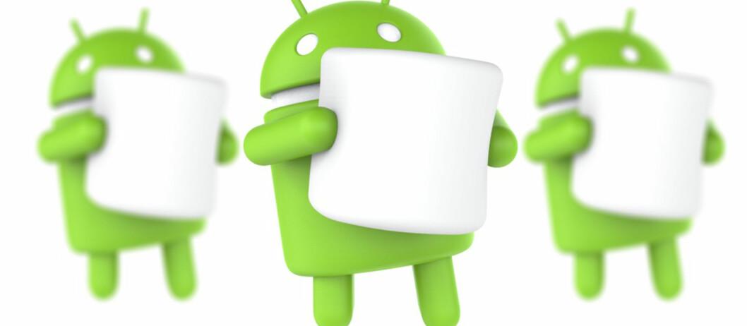 <strong><strong>NY VERSJON:</strong></strong> Den neste Android-versjonen har lenge vært kjent som Android M, men nå er det klart –navnet blir Marshmallow. Foto: GOOGLE/PÅL JOAKIM OLSEN