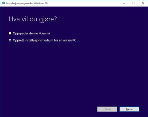 Last ned fullversjonen av Windows 10