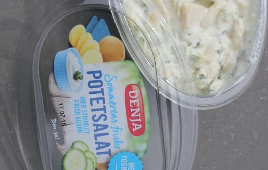 <strong><b>BEDRE KJØP:</strong></b> Vi ville heller kjøpt sommerens friske potetsalat fra Denja enn et av de ferdige tzatzikialternativene. Foto: ELISABETH DALSEG