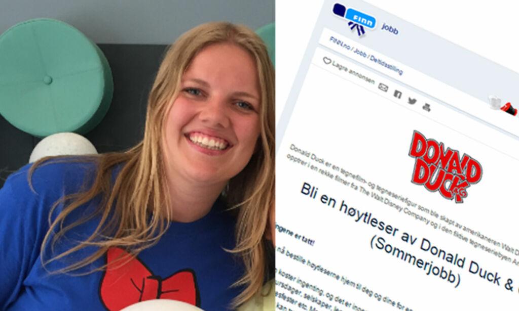 image: Har Pernille (19) sommerens mest spesielle sommerjobb?