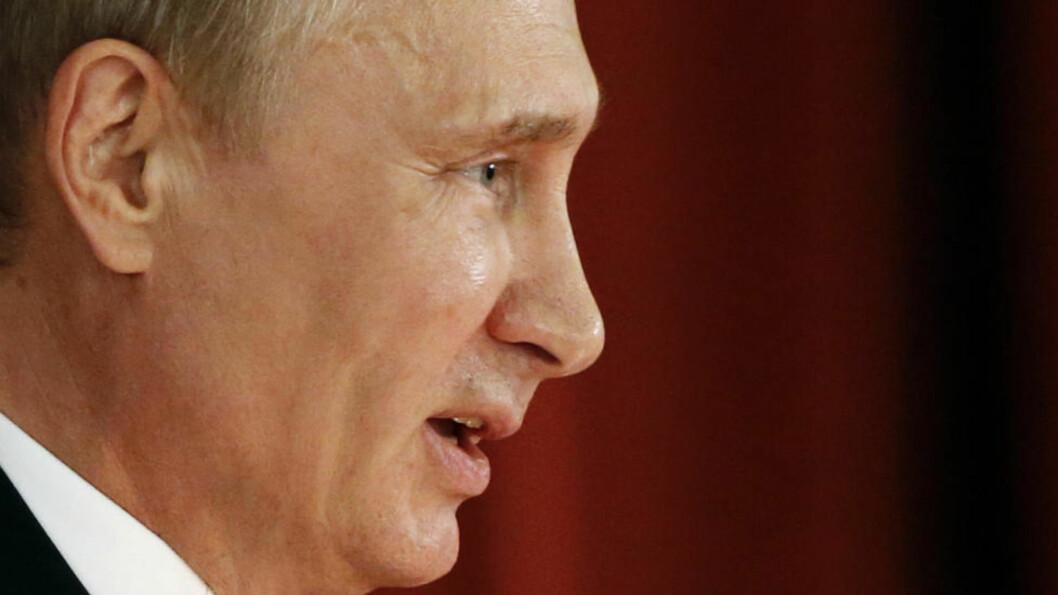 <strong>BANNE-FORBUD:</strong> Putin har fått kritikk for en ny lov mot banning. Aktivister mener loven minner om sensuren i Sovjetunionen. Foto: Reuters / NTB scanpix