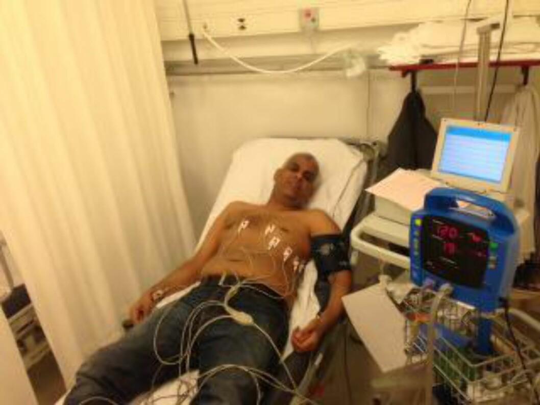 <strong>HELSEPROBLEMER:</strong> Ahmed Aldiani har hatt hjerteproblemer - men får ikke legehjelp etter at asylsøknaden ble avslått. Foto: Privat