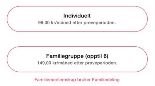 <strong><strong>BILLIGERE FOR FLERE:</strong></strong> Bruker du Apples familiedelingsfunksjon kan opptil seks personer få full tilgang til Apple Music mot 149 kroner i måneden.