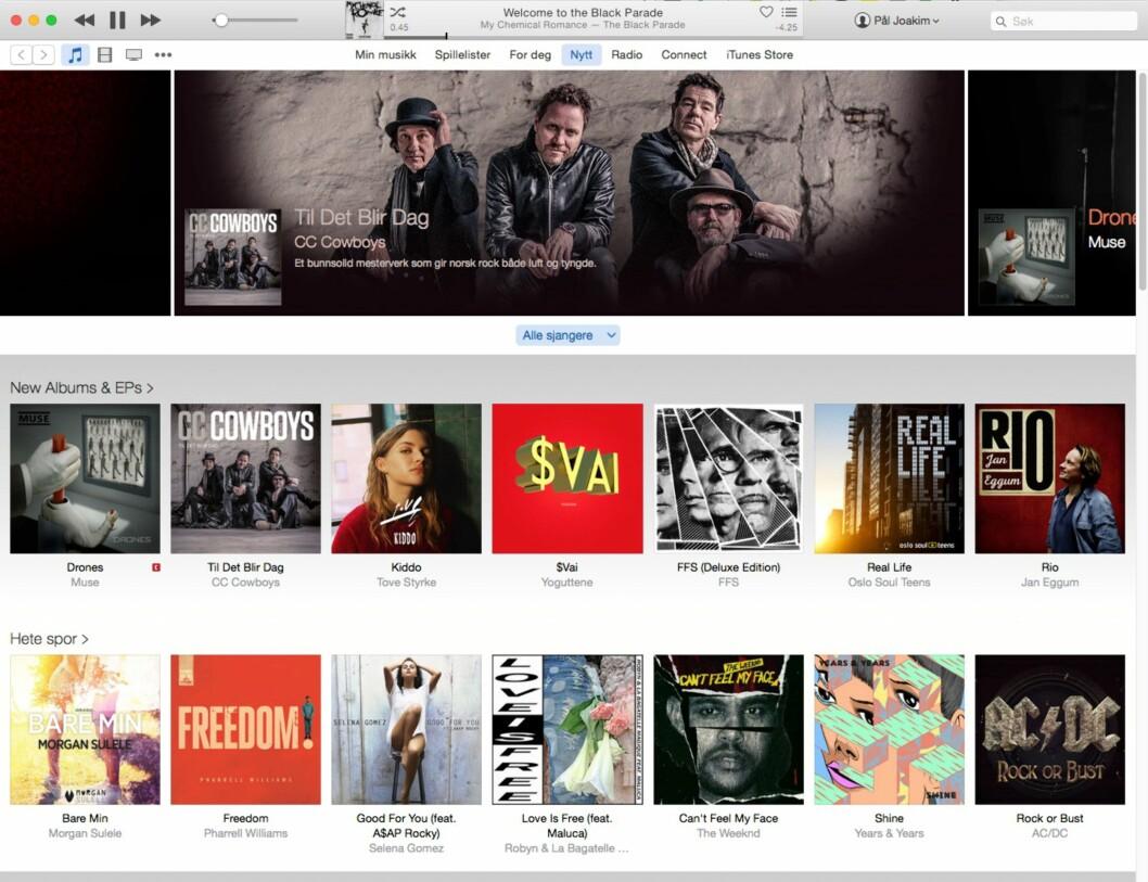 <strong><strong>IKKE BARE MOBIL:</strong></strong> Apples musikktjeneste er også tilgjengelig via iTunes.