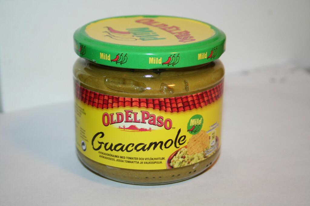 ERTER: Old El Paso sin guacamole inneholdt massevis av erter. For farge og konsistens, visstnok. Foto: BERIT B. NJARGA