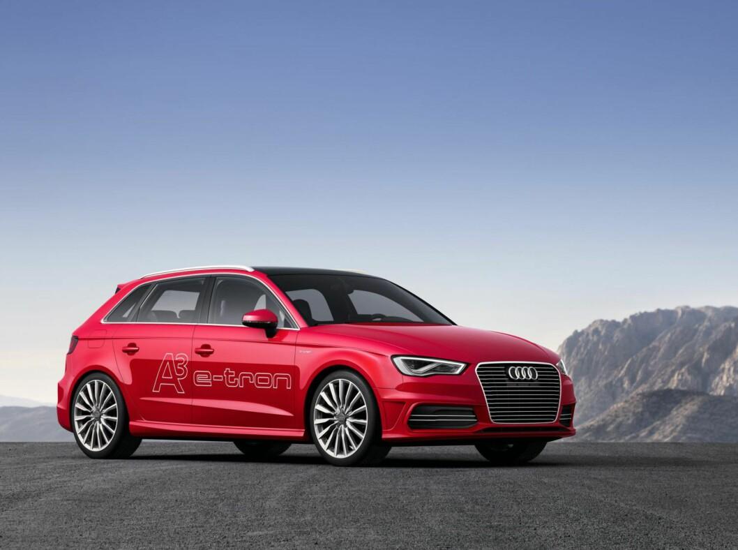 <strong>Audi A3 e-tron:</strong> Dessverre har ikke så små biler noe ekstra å hente i de nye avgiftene. Synd, for det er disse mindre bilene som går billigst.  Foto: AUDI