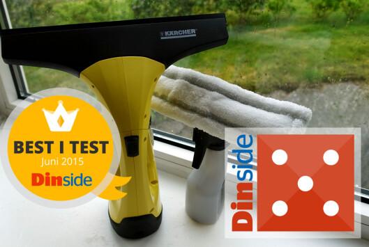 <strong><b>KÄRCHER:</strong></b> Best i test i denne samlingen vindusvaskere. Foto: KRISTIN SØRDAL