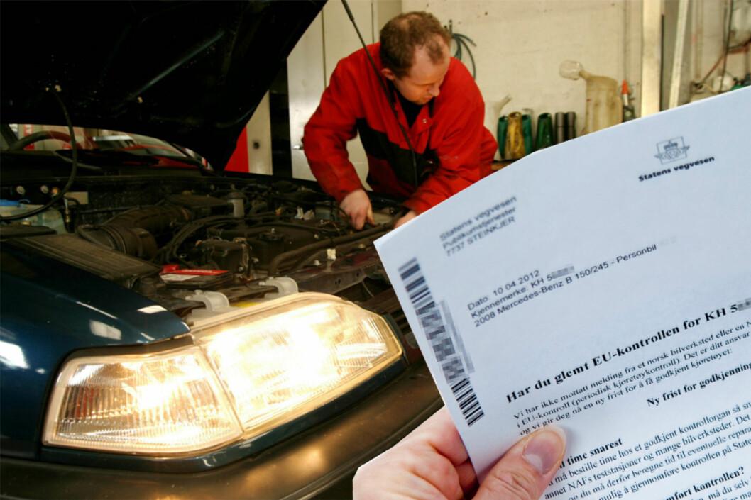 <strong><b>BLIR DYRERE:</strong></b> Periodisk Kjøretøykontroll, som på folkemunne går under navnet EU-kontrollen, blir fra 8. juni en god del strengere og dermed også dyrere.  Foto: ALL OVER PRESS