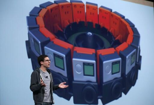 HEFTIG KAMERARIGG: Slik ser Googles og GoPros nye Jump-kamera ut. Det består av 16 kameraer som kan filme i alle retninger samtidig.  Foto: AFP/SCANPIX
