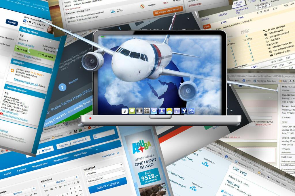 <b>BILLIGST HOS REISESØKEMOTORENE:</b> Vi fant de billigste flybillettene hos reisesøkemotorene. Uten unntak. Foto: NTB SCANPIX/KRISTIN SØRDAL
