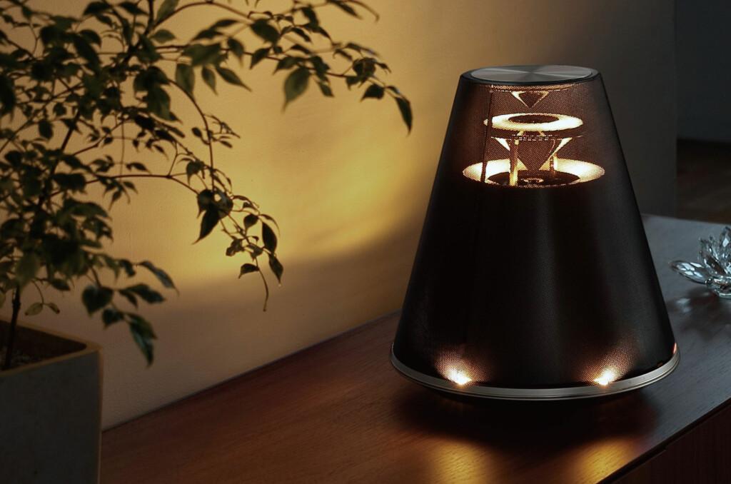 <b>MUSIKKMØBEL:</b> Ikke bare er det en lekker lampe, det er også en høyttaler. Foto: YAMAHA