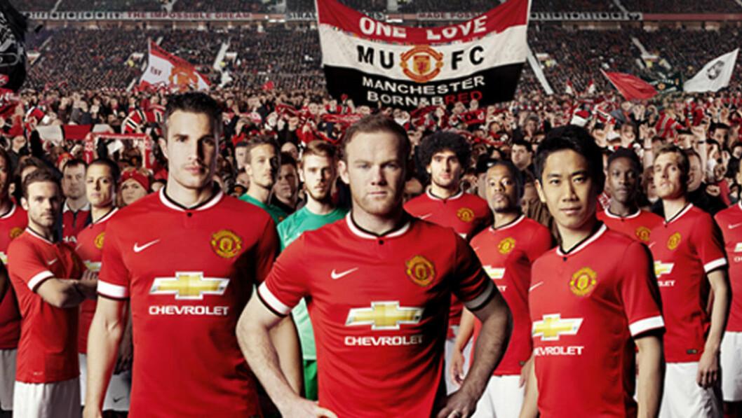 <strong>AVSLUTTER:</strong> Nike gir seg som Manchester Uniteds draktleverandør etter kommende sesong - dermed blir årets drakt den siste med Nike på brystet for Rooney &amp; CO. Foto: Manchester United
