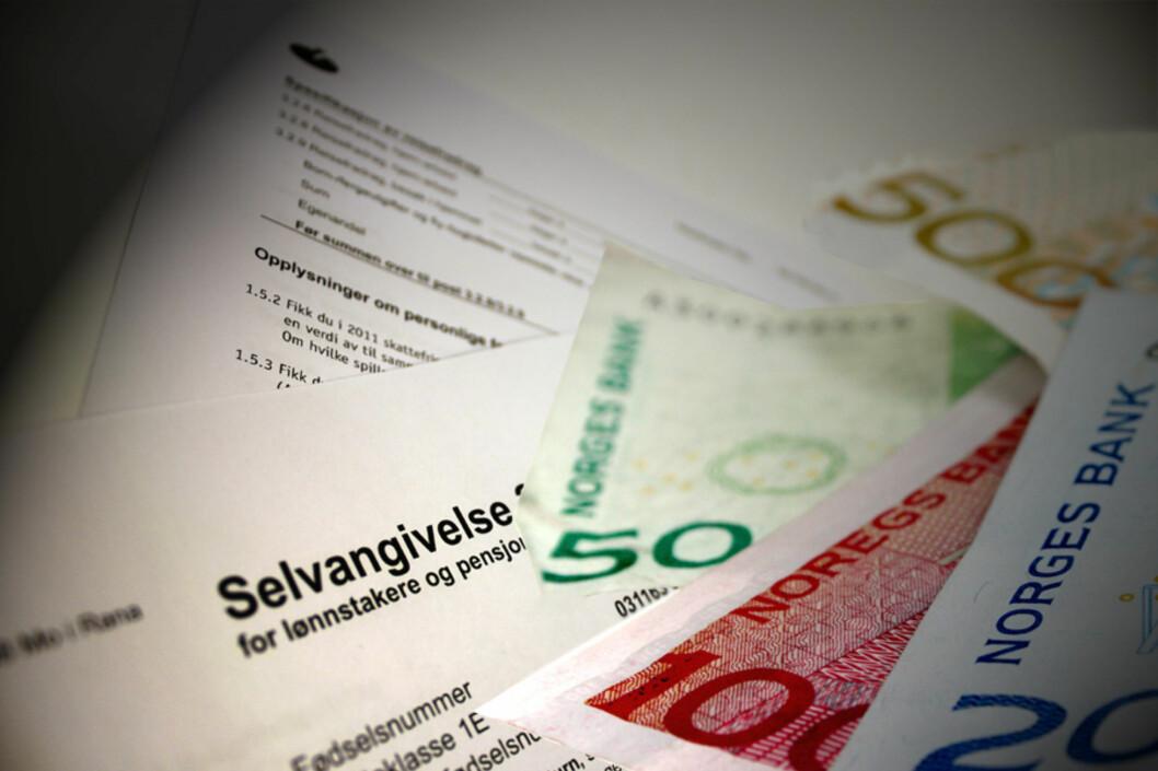 <b>UTBETALING?</b> Har du valgt riktig kontonummer til utbetaling av skattepengene? Det kan du sjekke ved å logge inn på Skatteetaten. Foto: DINSIDE