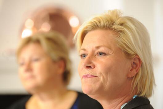 <strong><b>Norges finansminister:</strong> </b>Siv Jensen la i dag frem forlaget til revidert nasjonalbudsjett for 2015.  Foto: ALL OVER PRESS