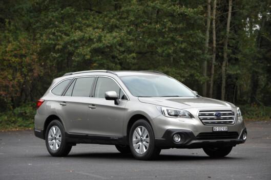 <strong><b>MEST DIESEL:</strong></b> Subaru har kraftig vekst i år, både takket være nye Outback (bildet) og den gamle traveren Forester. Begge leveres med en klar overvekt av dieselmotorer. Foto: FRED MAGNE SKILLEBÆK