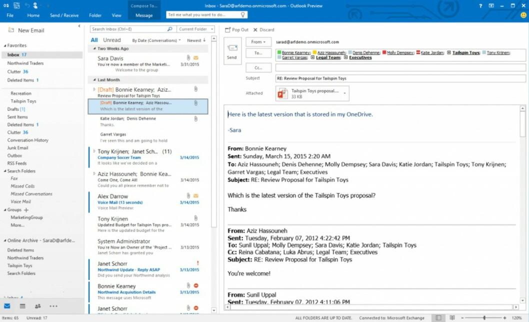 <strong><strong>SMART INNBOKS:</strong></strong> Outlook har nå blitt smartere og kan sortere epostene dine basert på viktighet.