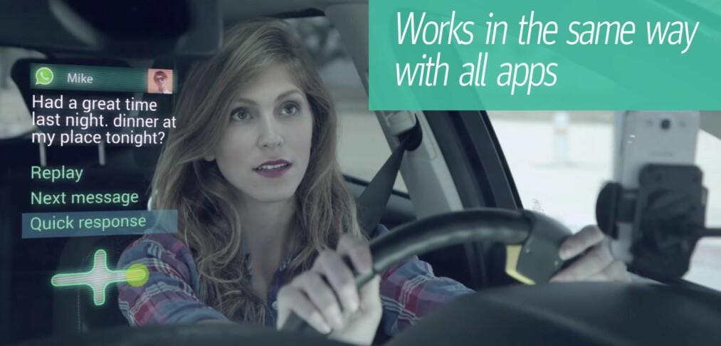 Appen som lar deg tekste mens du kjører
