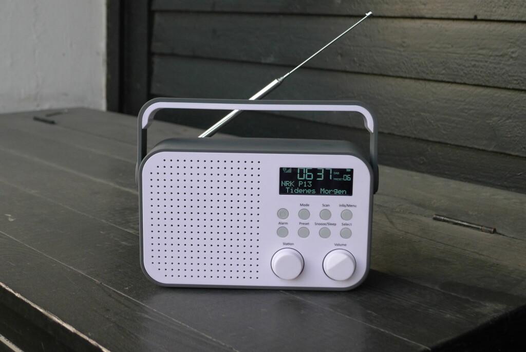 <B>UTE:</B> Med oppladbart batteri varer Polka hele sommeren på terrassen. Foto: TORE NESET