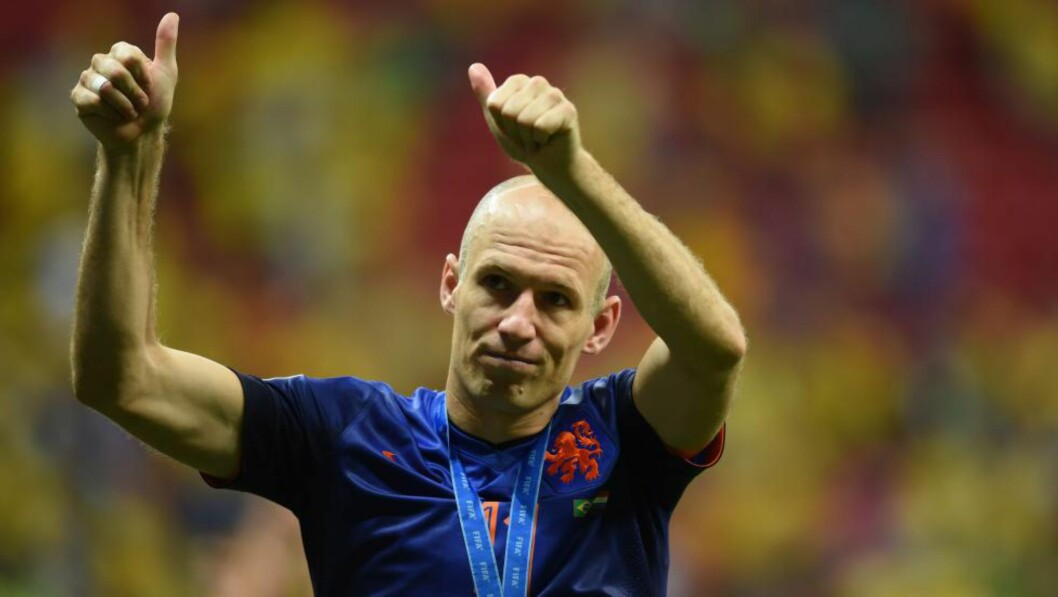 FEIRER BRONSEN:  Arjen Robben FOTO: NTB SCANPIX