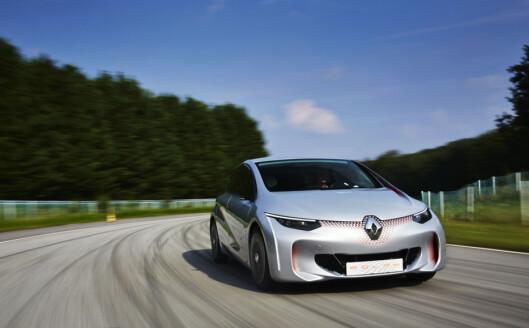 <strong><b>EOLAB:</strong></b> I slik en futuristisk konseptbil testes en ny hybrid drivlinje av Renault-Nissan-alliansen. Foto: RENAULT