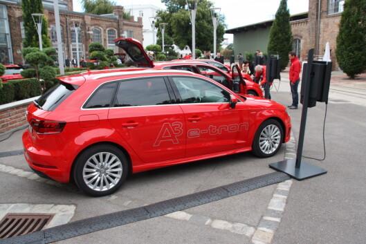 <strong><b>MEST SOLGT:</strong></b>Audi A3 sportback e-tron er for tiden den mest solgte ladbare hybriden i Norge.  Foto: KNUT MOBERG
