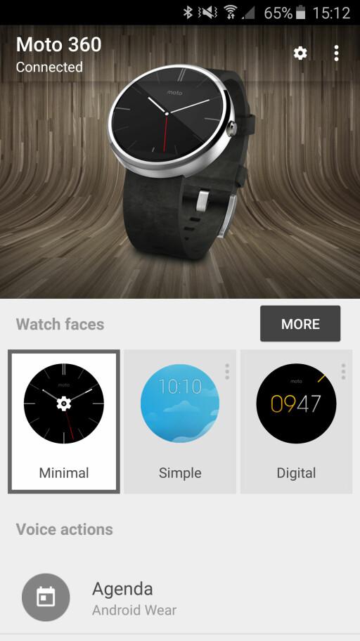 ENKEL APP: Wear-appen er relativt rett frem å bruke, men vi savner noen flere innstillingsmuligheter. Foto: KIRSTI ØSTVANG