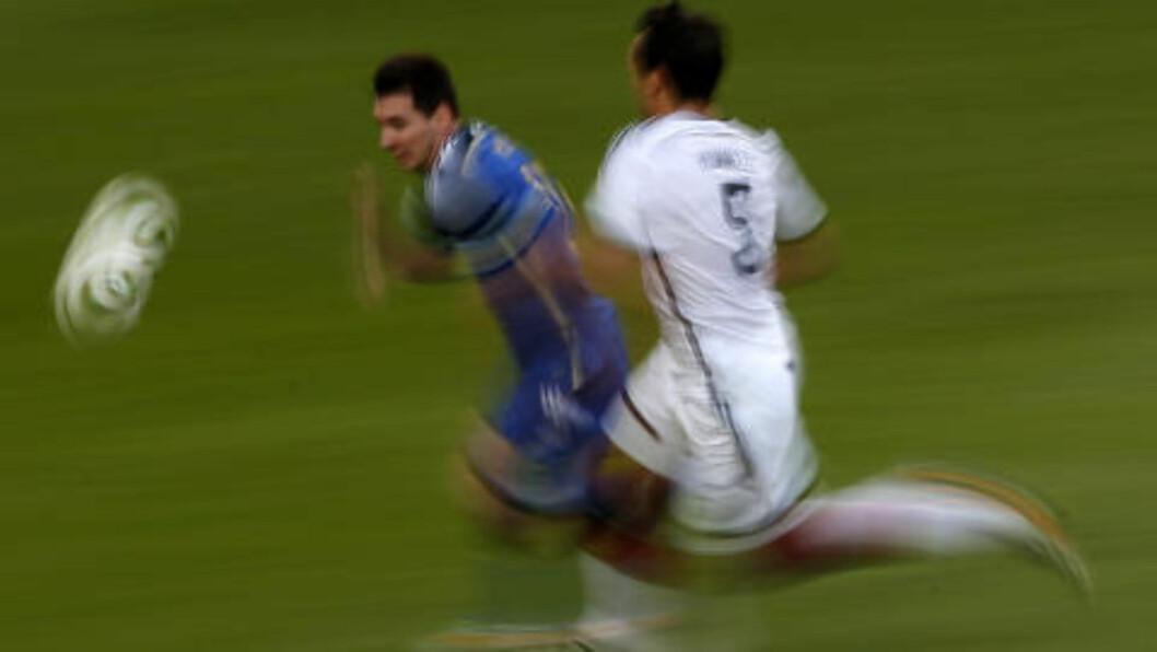<strong> LYNRASK:</strong> Lionel Messi var frisk i finalen. Foto: NTB Scanpix