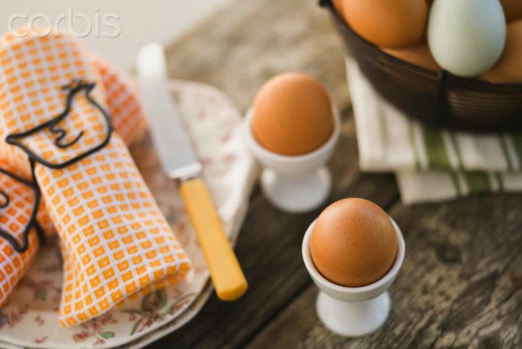 <strong><b>PÅSKEFROKOST:</strong></b> Eggesalget går til himmels rundt påsketider. Nortura har levert ut 1707 tonn egg i de siste par ukene før påske, opp ti tonn fra i fjor.  Foto: ALL OVER PRESS
