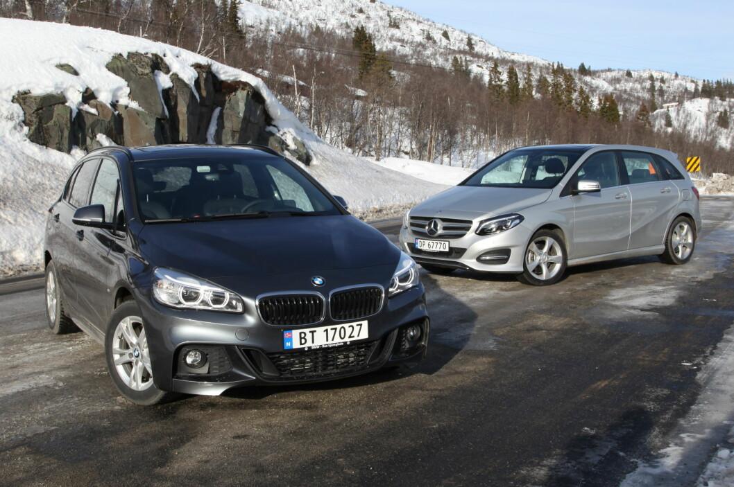 <strong><B>FLERBRUKERE MED FIREHJULSTREKK:</strong> </B>BMW løfter flerbruksklassen til et nytt nivå. Men Mercedes følger hakk i hæl.  Foto: RUNE NESHEIM / AUTOFIL