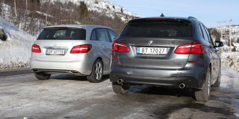 Test: BMW 220d xDrive Active Tourer mot Mercedes-Benz B220 4Matic