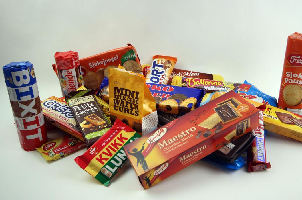 <strong><b>UTVALG:</strong></b> Utvalget av sjokoladekjeks og kjekssjokolade er stort, men mange av produktene skuffer. Foto: BERIT B. NJARGA