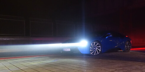 Vi kjører BMW med laserlys