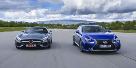 image: Lexus RC F  mot AMG-GTs